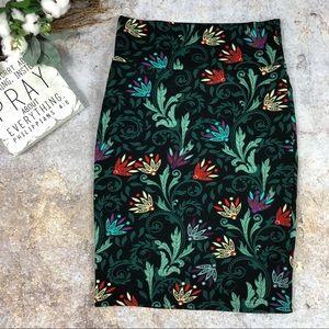 Lularoe Cassie floral skirt Sz S